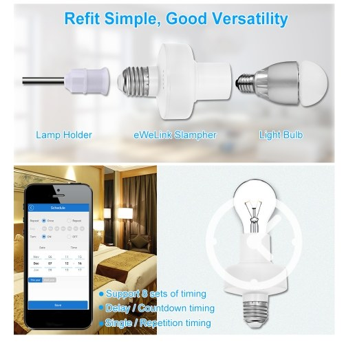 Image de Support d'ampoule eWeLink WiFi Smart E27 Support de lampe sans fil compatible avec Amazon Alexa & pour Google Home / Nest pour Smart Home