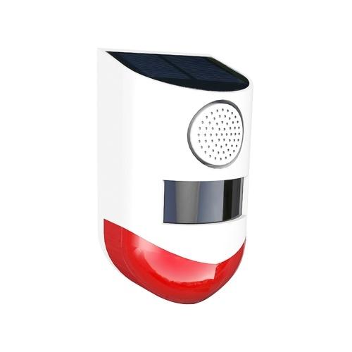 Solar Powered Wireless Independent Infrared Motion Sensor Alarm Waterproof PIR Sensor