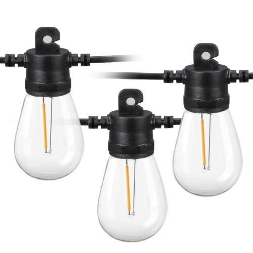 Cadena de luces LED con energía solar para exteriores de 34 pies