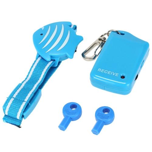 Anti-verloren Alarm Fisch Armband + Portable Empfänger Beep Vibrationsalarm für Kind ältere Haustier Locator