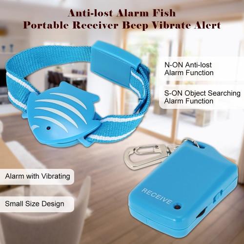 紛失防止アラーム魚リストバンド + 携帯用受信機ビープ音振動子高齢ペット ロケーターの警告