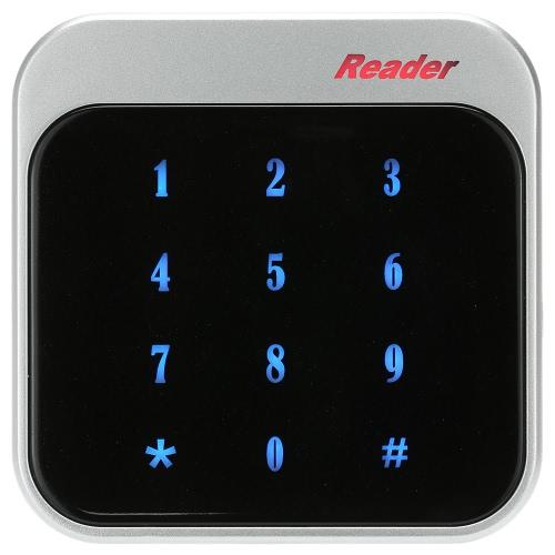 Proximidade de 13,56 MHz RFID Smart IC Card Reader Touch teclado Wiegand26/34 para o sistema de controle de acesso de entrada de porta