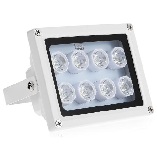 Illuminator 8 LEDS Night Lighting ao ar livre impermeável para câmera de segurança CCTV