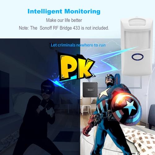 SONOFF PIR2 Wireless Dual Infrared Detector 433Mhz RF PIR Motion Sensor