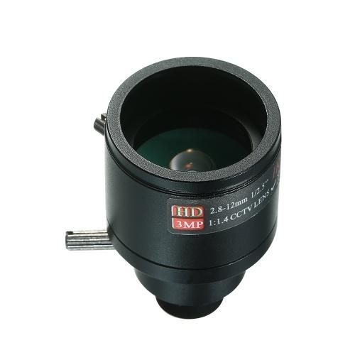 M12 HD 2.8-12mm 3-megapikselowy F1.4 Ręczne ustawianie ostrości Zoom zmiennoogniskowy CCTV MTV na podczerwień