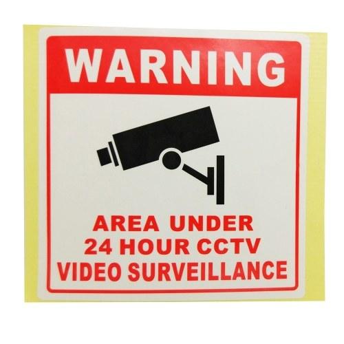 PVCホームCCTVのビデオ監視セキュリティカメラのアラームステッカー