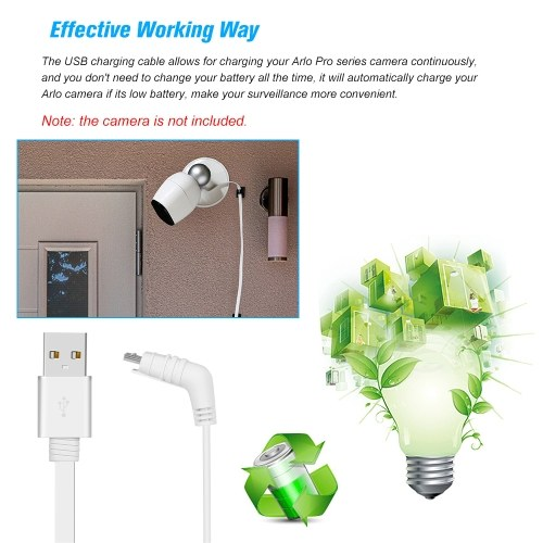 TOMTOP / 6M/20ft Charging Power Cable Flat Cable Aluminium Alloy Micro USB Cable Charging/Power Cord without Plug