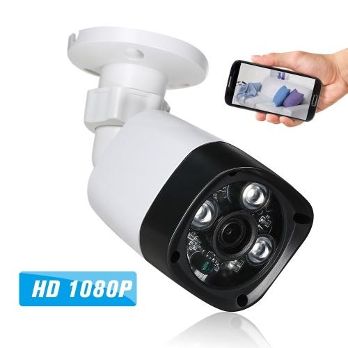 1080P HD POE 3アレイIRランプ夜景電話APP制御IPカメラ