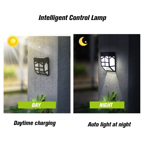 Solar Energy Lamp Outdoor Fence Lamps Garden Waterproof Landscape Courtyard Lights Street Stair Wall Colorful Light With Three-way Switch(OFF—CYCLE—LOCK)