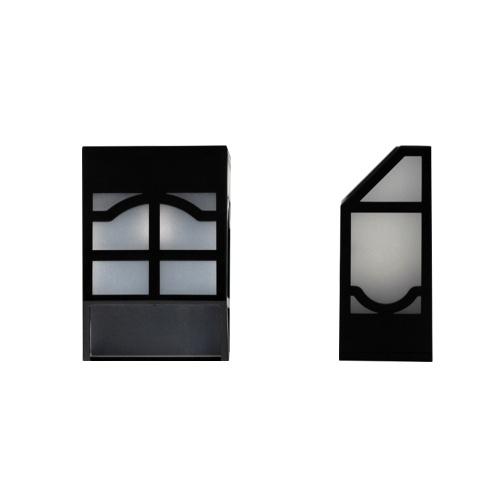 Lâmpada de Energia Solar Cerca Ao Ar Livre Lâmpadas de Jardim À Prova D 'Água Paisagem Luzes Do Pátio Rua Da Parede Da Escada Luz Colorida Com Interruptor de Três vias (OFF-CICLO-BLOQUEIO)