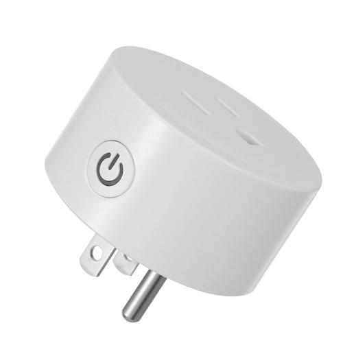 Mini Smart Plug WiFi Steckdose US Tuya APP Fernbedienung Timer, Sprachsteuerung Kompatibel mit Amazon Alexa und für Google Home