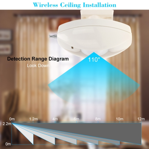 Wireless PIR Infrared Motion Detector 433MHZ for Home And office Security Protecion
