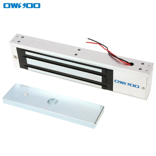 OWSOO  320KG 700lbs Holding Force Electric Magnetic Lock For Door Access Control System Electromagnet Fail-Safe NC Mode