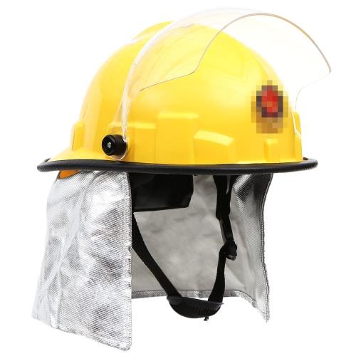 Feuer-Beweis-Feuerwehrschutzhelm mit Goggle Amice Stromschlägen Flammhemmende Pierce Widerstand Feuerwehrhelm