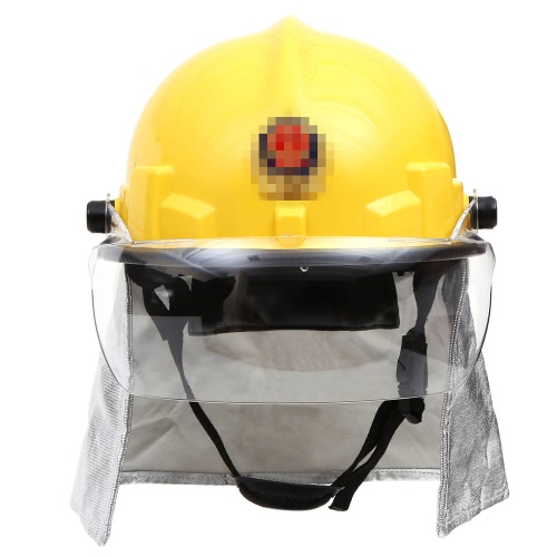 KKmoon Fire Proof Fireman's Safety Helmet With Goggle Amice Electric Shock Prevention Flame-retardant Pierce Resistance Fire Fighting Helmet