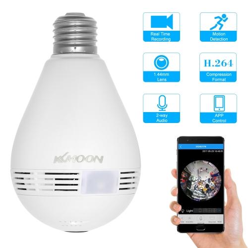 KKmoon Wireless 360 Degree LED Light Bulb IP Camera