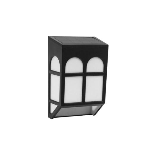 ソーラーエネルギーランプ屋外フェンスランプガーデン防水風景中庭ライトストリート階段壁カラフルな光三方スイッチ付き(オフ - サイクルロック)