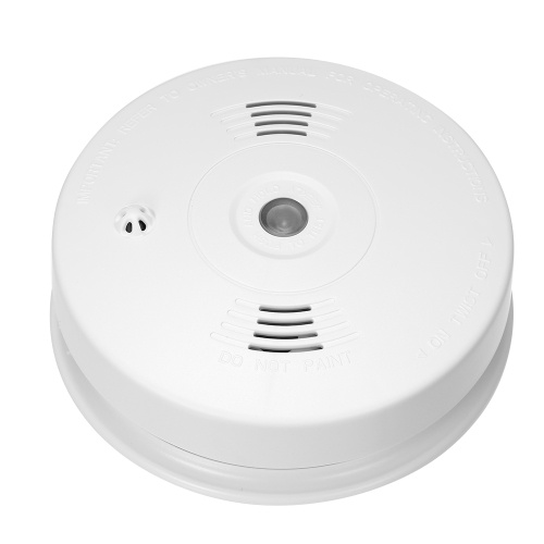 Wireless 433MHz Smoke Fire Detector Photoelectronic Temperature Sensor Inside Fire Alert Security Alarm For Home Kitchen/Store/Hotel/Factory