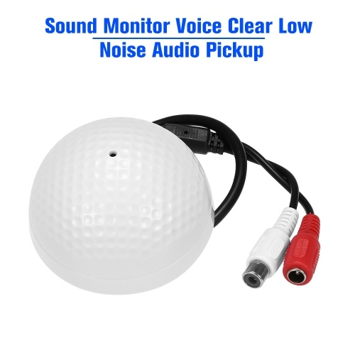 Sound Monitor Voice Clear Low Noise Audio Pickup Microphone for CCTV Video Surveillance Security Camera