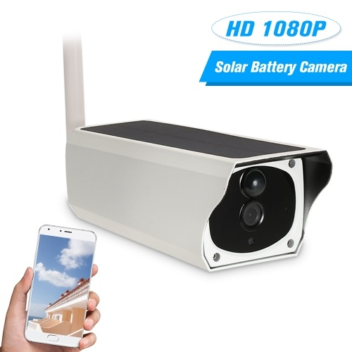 Wireless HD 1080P WiFi Solar & Battery Power Bullet IP Camera