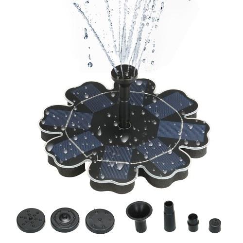 """195mm / 7,68 """"bomba de água de poupança de energia do painel solar da flor-forma da fonte das energias solares"""