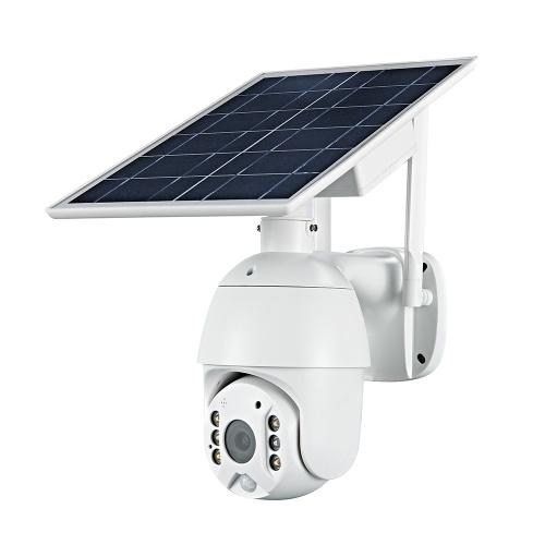Telecamera di sorveglianza per batteria ricaricabile impermeabile da esterno da 2 MP con videocamera solare di sicurezza 1080P