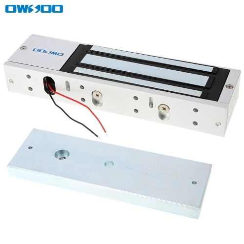 OWSOO  500KG 1200lbs Holding Force Electric Magnetic Lock For Door Access Control System Electromagnet Fail-Safe NC Mode