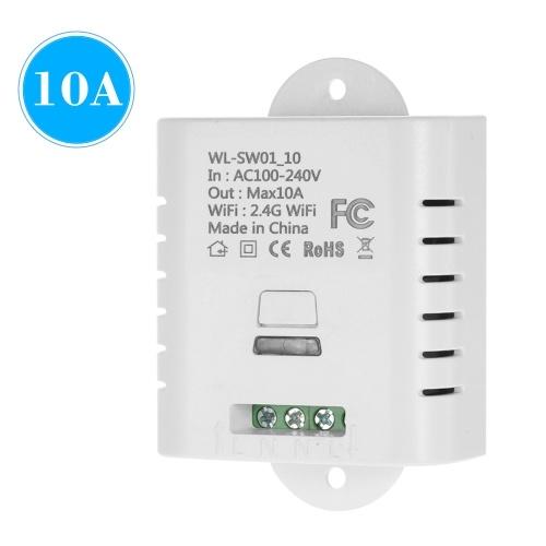 WIFIスマートスイッチ10Aワイヤレスライトタイマースイッチ