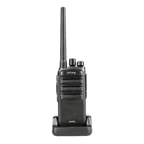 POFUNG P53U Mini Walkie Talkie 430-440MHz 16CH Portable Handheld Transceiver Interphone VOX Function Two Way Radio