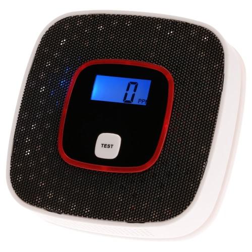 Détecteur d'alarme gaz LCD CO Monoxyde de carbone