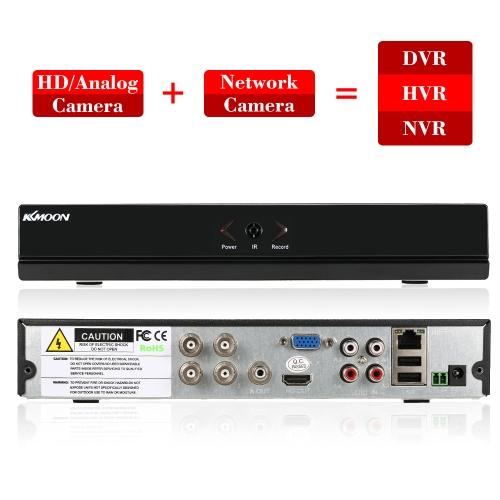 KKmoon 4CH Channel Full 1080N / 720P AHD DVR HVR HD Цифровой видеорегистратор + 1 ТБ Жесткий диск фото