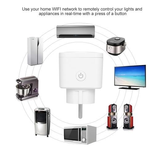 Smart WiFi Socket EU Type E Wireless Remote Control Socket