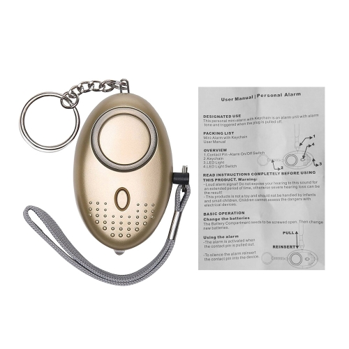 Alarme Pessoal Alarme de Segurança Auto-Defesa de Emergência Keychain