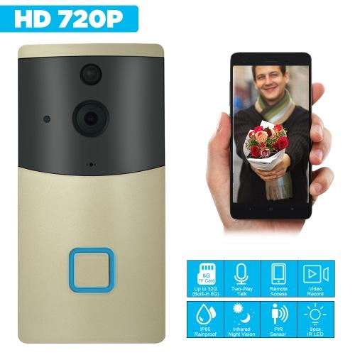HD 720P WIFI Visual Intercom Door Phone Wireless Video Doorbell Built in 8G TF Card