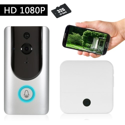 HD 1080P WiFi Smart Wireless Security Doorbell with 32G TF Card 1 Wireless Doorbell Chime