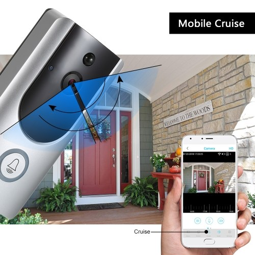 HD 1080P WiFi Smart Wireless Security Doorbell with 16G TF Card 2 Wireless Doorbell Chime