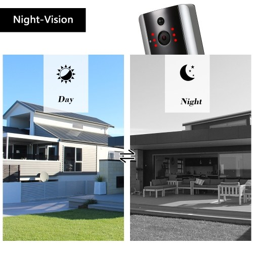 HD 1080P WiFi Smart Wireless Security Doorbell with 8G TF Card 2 Wireless Doorbell Chime
