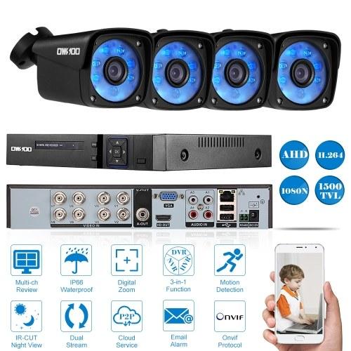 OWSOO 8CH Volles AHD 1080N 1500TVL DVR Sicherheitssystem