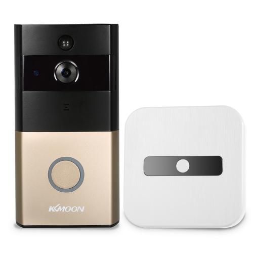 KKmoon HD 720P Türklingel Wireless WIFI Video-Türsprechanlage mit Innen-Türklingel