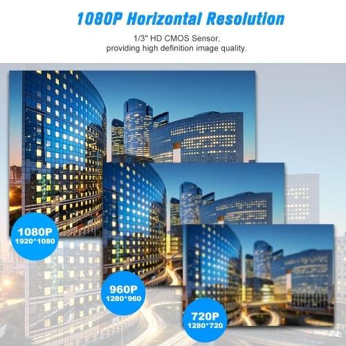 1080P HD Bullet WIFI Fotocamera IP impermeabile a prova di intemperie 2.0MP 30pcs Luci LED a infrarossi Supporto telefonico APP Controllo del movimento Rilevazione notturna per CCTV Sorveglianza domestica Sicurezza
