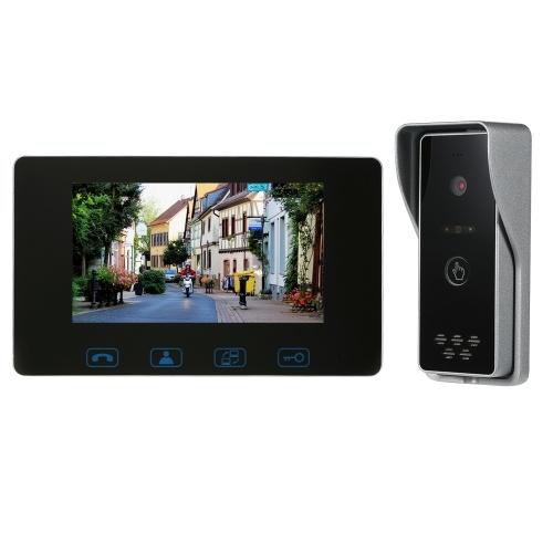 Wired Video Doorbell Phone 7 Video Intercom Monitor Doorphone System