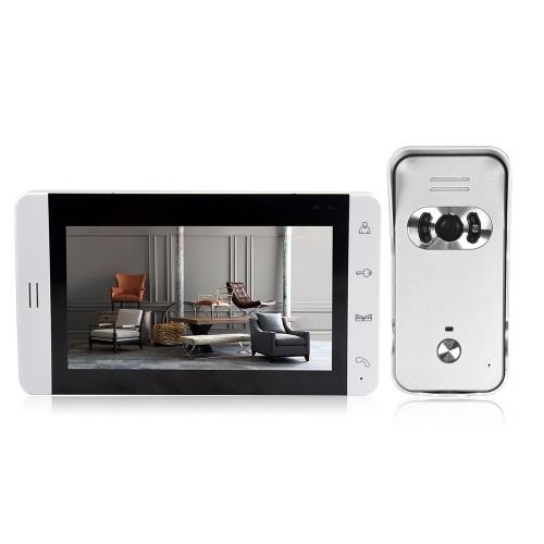 Home Security Monitor de Tela LCD de 7 polegadas Color Video Viewer Door Bell