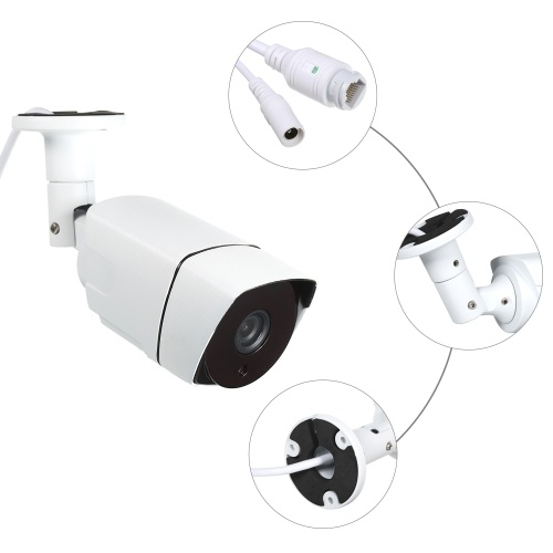"4PCS CCTV Camera 3.0MP 1.7mm Lens 1/2.8"" CMOS Color 2048 * 1536P POE High-resolution Nightvison Indoor Bullet Camera Analog Security Camera"