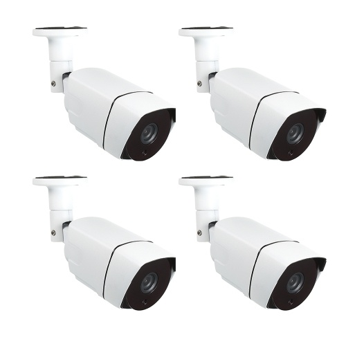 """4 STÜCKE Überwachungskamera 2.0MP 1,7mm Objektiv 1 / 2,8 """"CMOS Farbe 1080P POE Hochauflösende Nightvison Indoor Bullet Kamera Analog Überwachungskamera"""