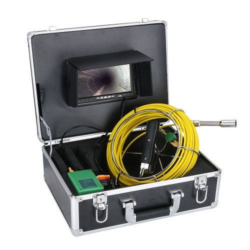 20M 22mm Pipe Inspection Video Camera 7 Inch Monitor with 8GB TF Card