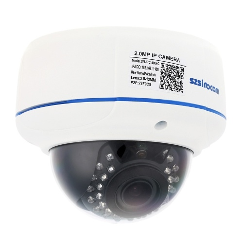 szsinocam H.264 HD 1080P 2.8-12mm 4X Digital Zoom IP Camera with 30pcs IR LEDs CCTV Security