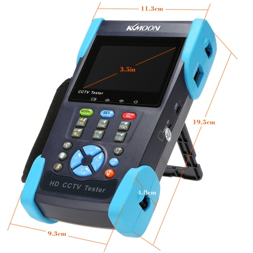 KKmoon 3.5in LCD CCTV Camera Tester Video Monitor SDI/CVI/TVI/AHD/PTZ/Cable Tester/Video Level Meter HD-2800ADHS