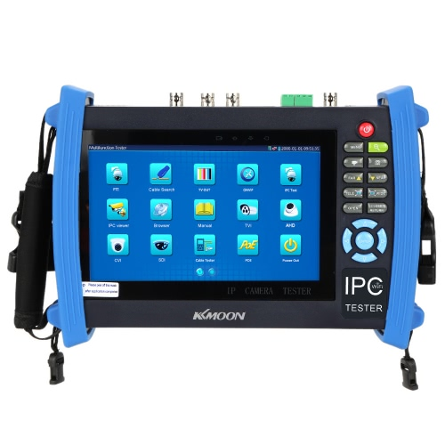 KKmoon 7 Zoll CCTV Onvif IP Kamera Tester Touch Screen Monitor SDI/AHD/TVI/CVI HD 1080p/PTZ/POE/WIFI/FTP Server/IP Scan/Port blinken/DHCP IPC-8600ADHS