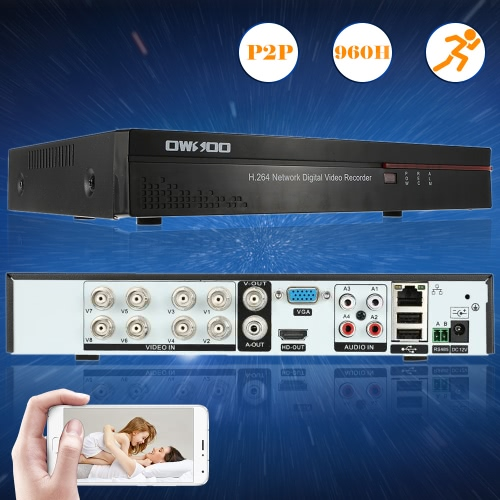 OWSOO 8CH Full 960H Network DVR Security Phone Control Motion Detection Email Alarm