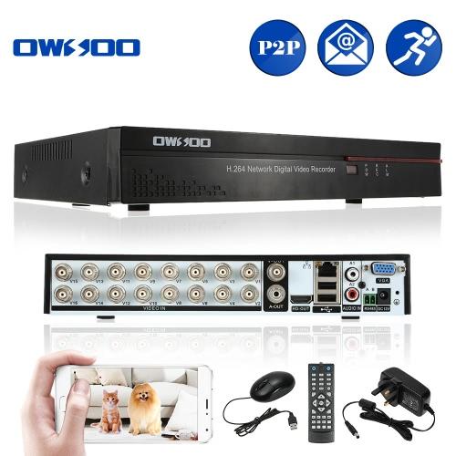 OWSOO 16CH Kanal DVR Digital Video Recorder + 1 TB Festplatte unterstützung Audio Rekord Telefonsteuerung Bewegungserkennung